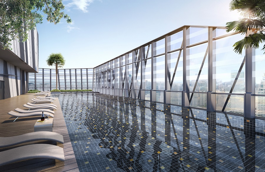 So sofitel kuala lumpur residences at oxley towers klcc the world 39 s first so sofitel branded for Tallest swimming pool in the world
