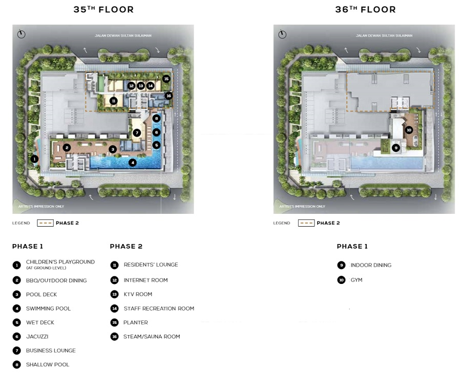 The Luxe Colony KL Facilities Plan