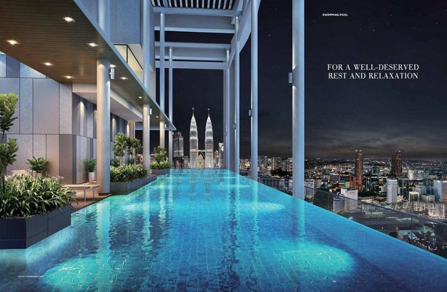 The luxe kl at klcc kuala lumpur city centre by - Rooftop swimming pool kuala lumpur ...